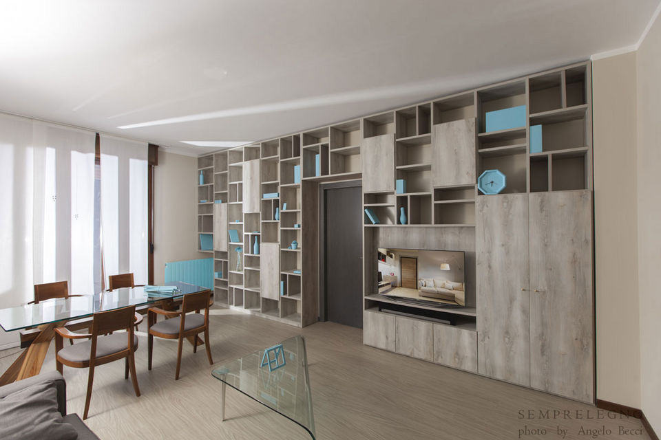 Open Space Custom Furniture and Wall Bookcase